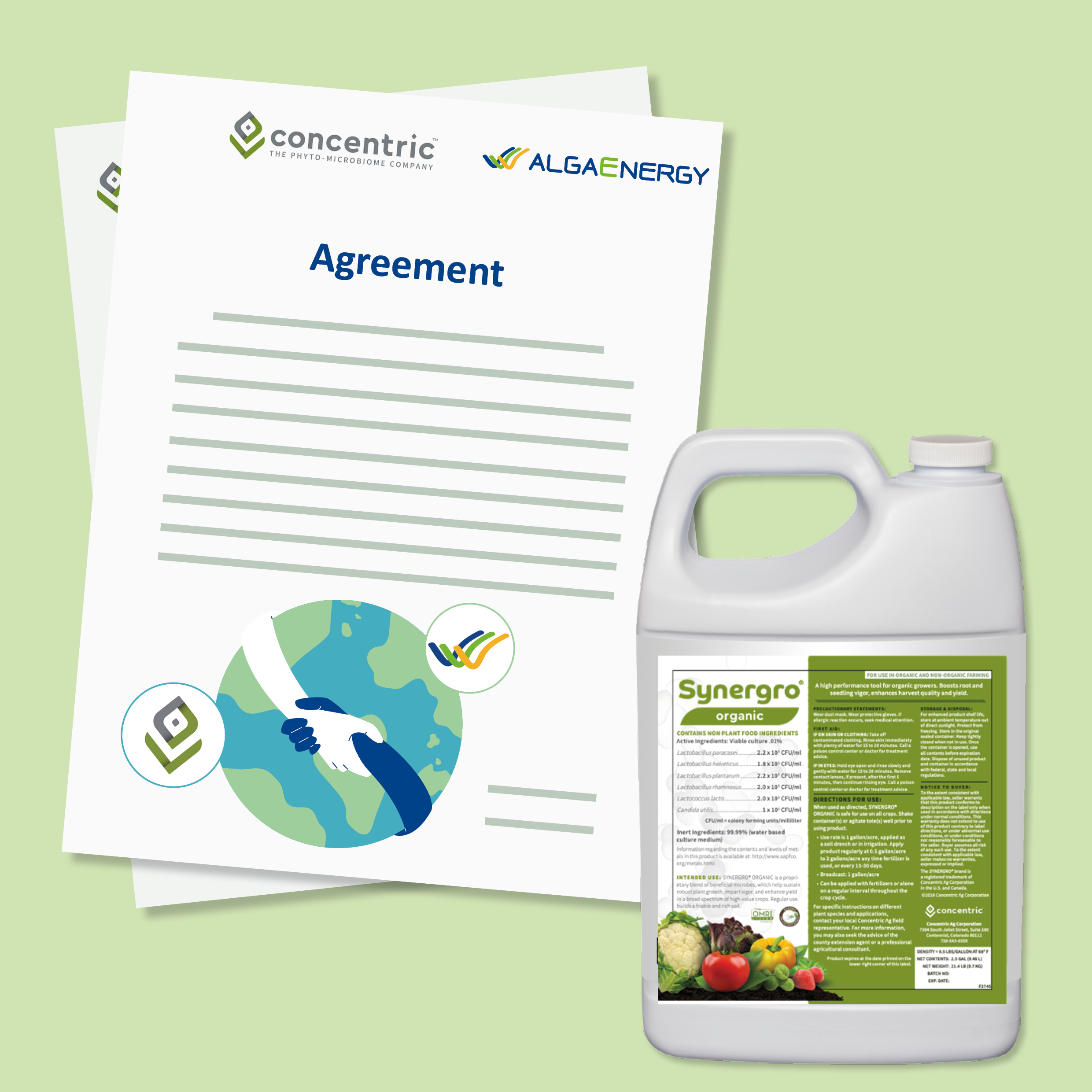 AlgaEnergy y Concentric Ag sellan un acuerdo exclusivo internacional para el desarrollo y distribución de productos